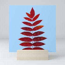Red Sumac Leaves Mini Art Print
