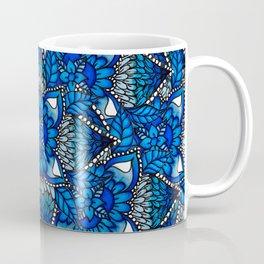 Blue ombre watercolor mermaid mandala boho pattern Coffee Mug