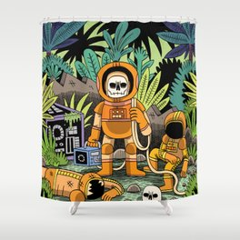 Lost contact Shower Curtain