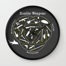 Zombie weapons Wall Clock