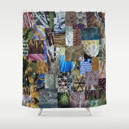 Collage - Tiled Shower Curtain