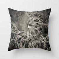 greek Throw Pillows featuring Greek goddess Gaia. by Viviana Gonzalez