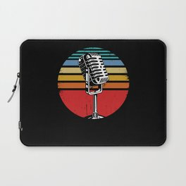 Microphone Singer Vocalist Musician Gift Funny Singing Gifts Laptop Sleeve