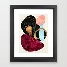 Abstract Pebbles II Framed Art Print
