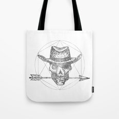 Dead Sheriff Greyscale Tote Bag