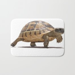 Marching Baby Tortoise Cartoon Vector Isolated Bath Mat