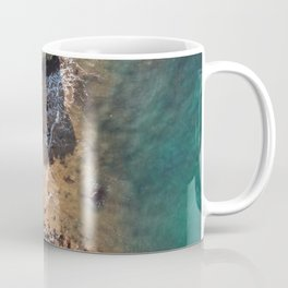 Small beach from above Coffee Mug