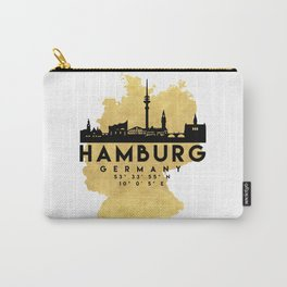 HAMBURG GERMANY SILHOUETTE SKYLINE MAP ART Carry-All Pouch