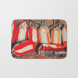 Buoy Painting Workbench Bath Mat