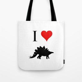 I Love Dinosaurs - Stegosaurus Tote Bag