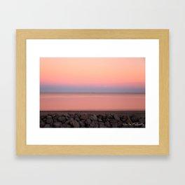 Sunset on Jekyll Island Georgia Framed Art Print