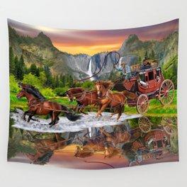 Wells Fargo Stagecoach Wall Tapestry