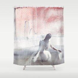 Fog Portrait Shower Curtain