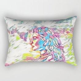Kylie Jenner - Celebrity Art (Illustration) Rectangular Pillow