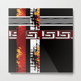 Abstraction .Weave . Patchwork . Metal Print