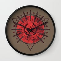 mars Wall Clocks featuring Mars by Hector Mansilla