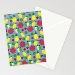 Fruits in blue Stationery Cards