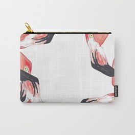 Red Flamingos Carry-All Pouch