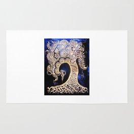 Henna Mehndi-Inspired Tree of Life Print Rug