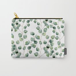 Watercolor eucalyptus silver dollar Carry-All Pouch