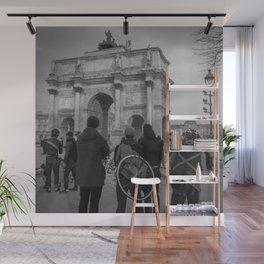 Cyclists, Le Louvre, Paris Wall Mural