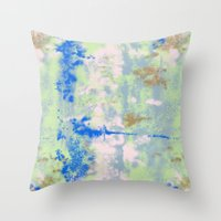 tie dye Throw Pillows featuring Tie Dye by Wendy Ding: Illustration
