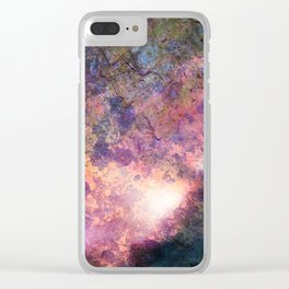 Rebirth | Galaxy Abstract Painting Clear iPhone Case