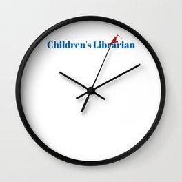 Top Children's Librarian Wall Clock