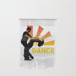 dancing couple silhouette - brazilian zouk Wall Hanging