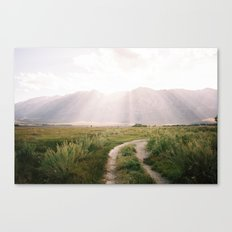 Sunset off of HWY 395  Canvas Print