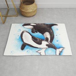 Orca Playing Rug