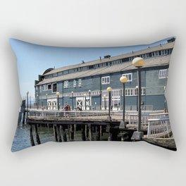 Seattle Downtown Pier Rectangular Pillow