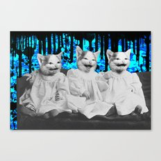 Triple Trouble Canvas Print