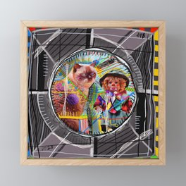 Test Card Framed Mini Art Print