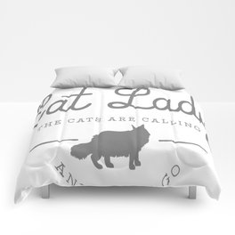 Crazy Town Cat Lady Comforters