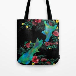 NewZealand Map Tote Bag