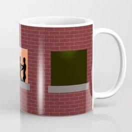 Multi Storey Apartment Windows at Night Coffee Mug