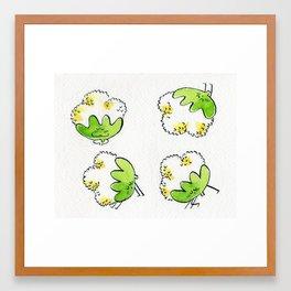 Cauliflowers doing yoga Framed Art Print