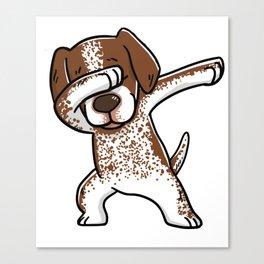 Dabbing German Shorthaired Pointer Dog Dab Dance Canvas Print