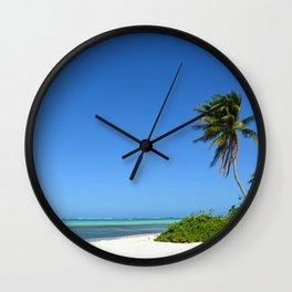 Crystal Clear Day on the Beach Wall Clock