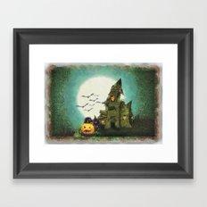 Halloween Sketch Framed Art Print