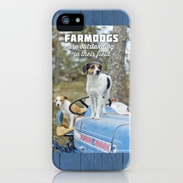 Outstanding Farmdogs iPhone Case