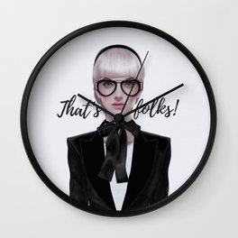 That's__folks! Wall Clock