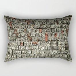 Letters Rectangular Pillow
