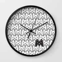 fargo Wall Clocks featuring What if you're right and they're all wrong by Sandrine Targe