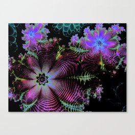 Frilly Flowers 3 Canvas Print