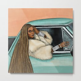 Bey Formation Car Illustration Metal Print