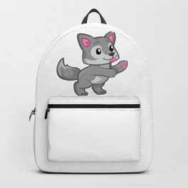 Cartoon Baby Wolf Backpack