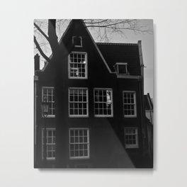 Poetic House In Amsterdam Metal Print
