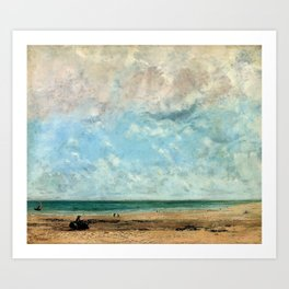 Seashore by Gustave Courbet Art Print